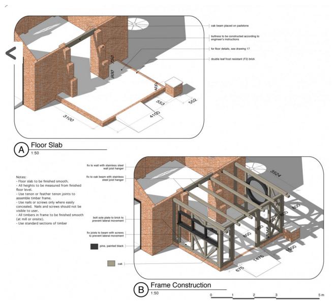 Design em 3D para construção com detalhes