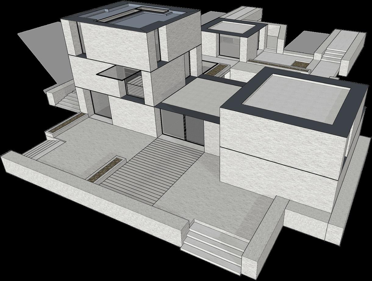 Modelagem 3D de projeto de arquitetura com vantagens SketchUp Pro