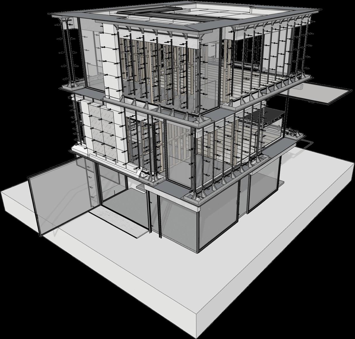 Modelagem 3D de projeto de construção com vantagens SketchUp Pro