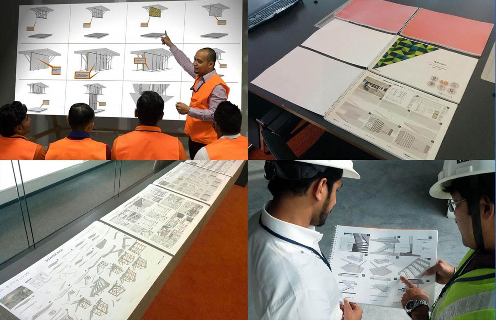 Produção industrial na construção virtual