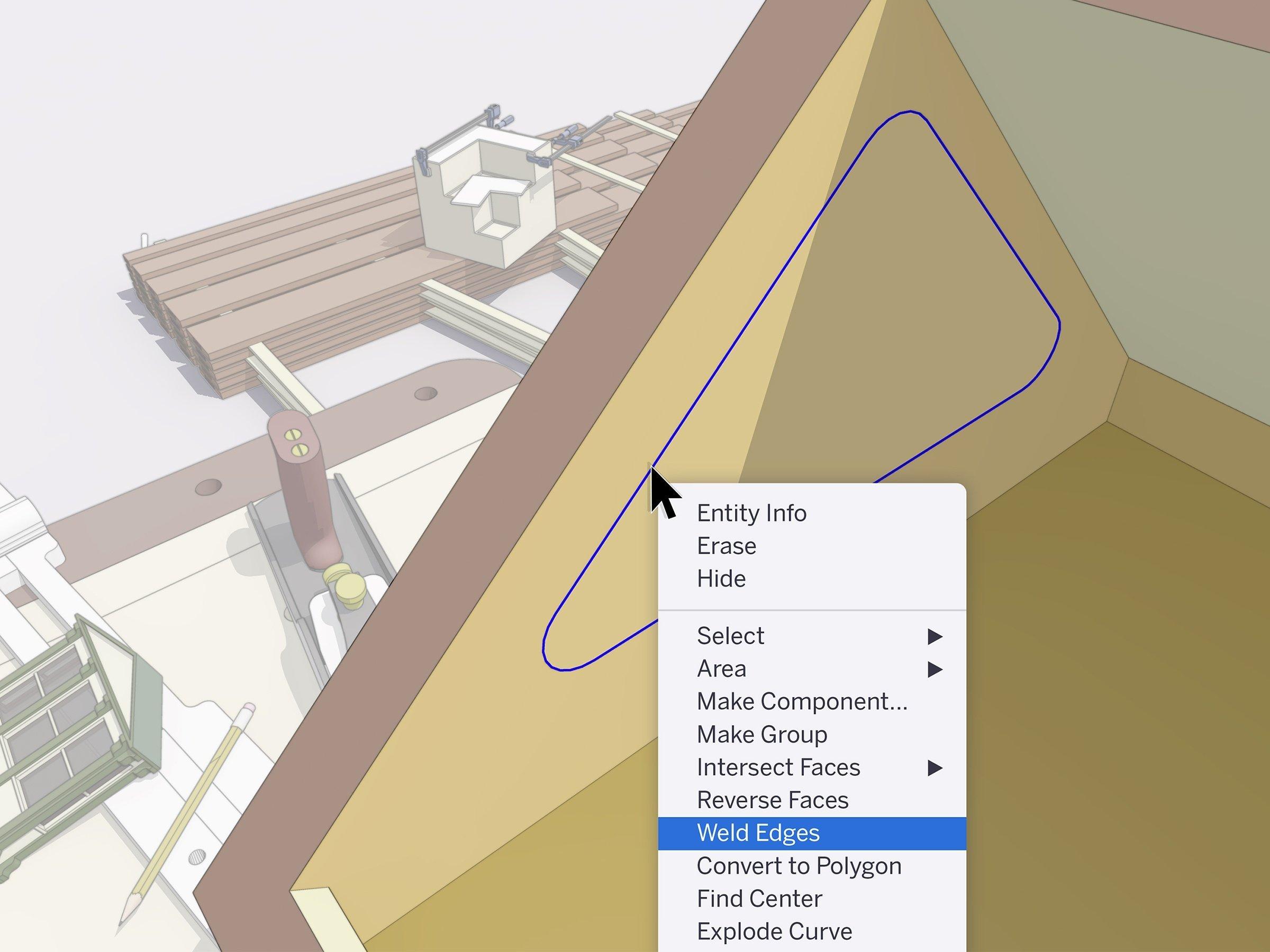 controle a largura, cor e padrão com o sketchup 2020.2